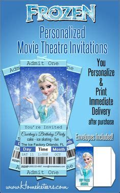 printable frozen movie ticket invitations frozen birthday invitations thank you cards and party