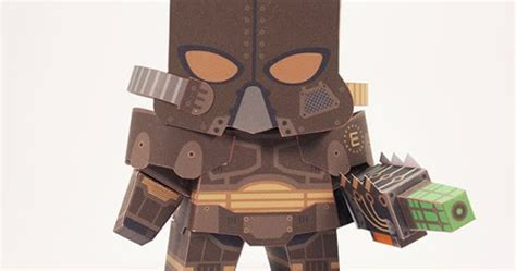 Soldier Papercraft - ninjatoes papercraft weblog fallout enclave soldier