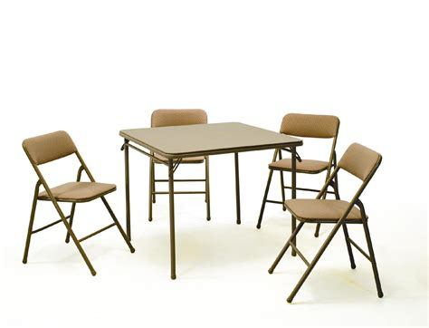 Folding Card Table And Chairs 5 Pc Set by Cosco Home And Office Products 5 Pc Folding Table And