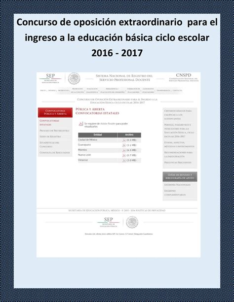 formulario de concurso de educacion 2016 concurso de oposici 243 n extraordinario para el ingreso a la