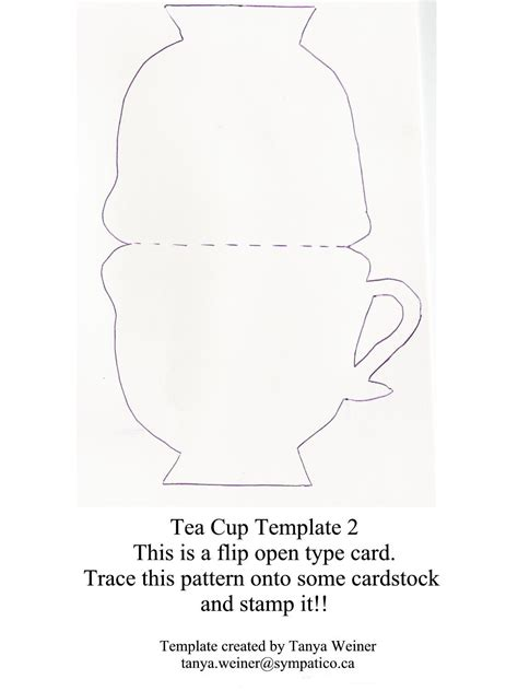 teacup template for card taza de t 233 tarjeta tea cup card moldes