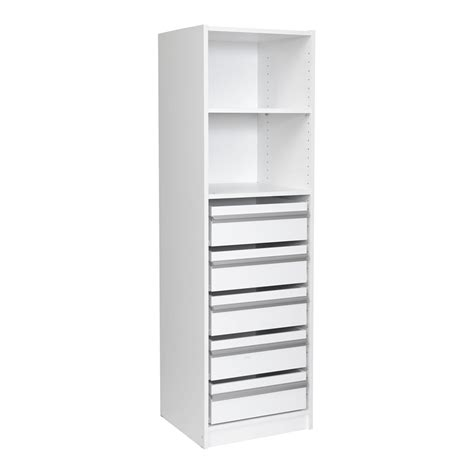 multi store 1495 x 450 x 430mm 1 shelf 5 drawer wardrobe