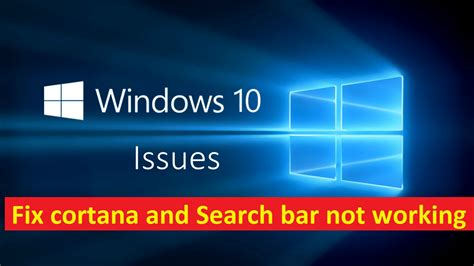 Search Not Working Fix Cortana And Search Not Working Windows 10 Howtosolveit