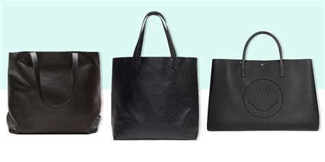best tote bag 12 best black leather tote bags in 2018 black leather