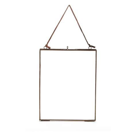 nkuku kiko glass frame antique copper portrait 8 quot x 10