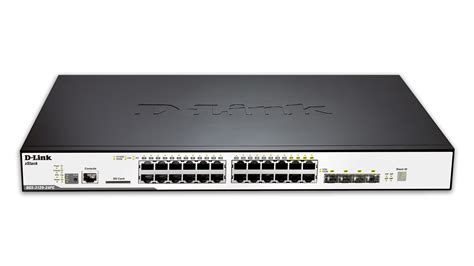 24 port managed gigabit stackable l2 poe switch including 4 combo sfp ports d link