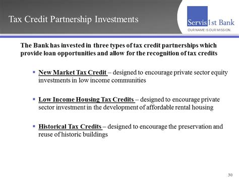 section 29 tax credit tax credit partnership investments the bank has invested
