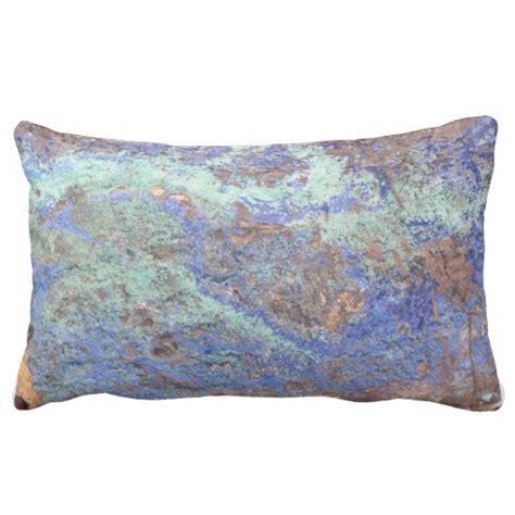 Back Pillows by Lumbar Pillow Blue Copper Lumbar Pillow Zazzle