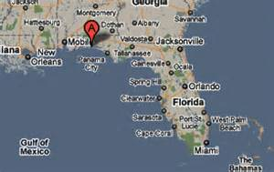 map of shalimar florida sighting reports 2010