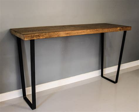 dining table steel leg table reclaimed planks solid by