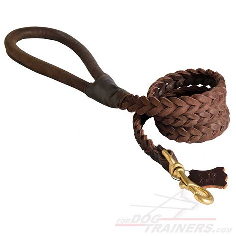 leather leash best braided black leather leash with shape handle buy best braided leather