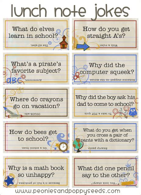 printable lunchbox jokes being creative to keep my sanity back to school lunch box