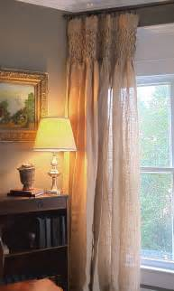 Smocked Burlap Curtains 1000 Images About Window Treatments On Custom Window Treatments Burlap Curtains