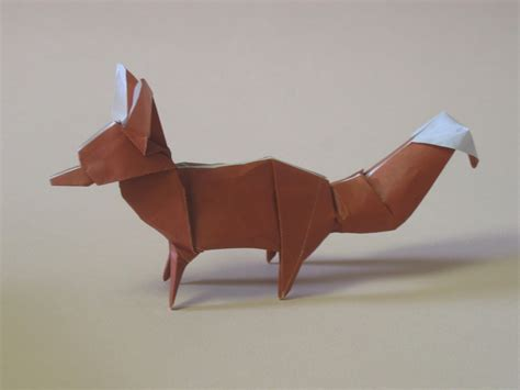 Origami Fox - zing origami animals beasts and creatures