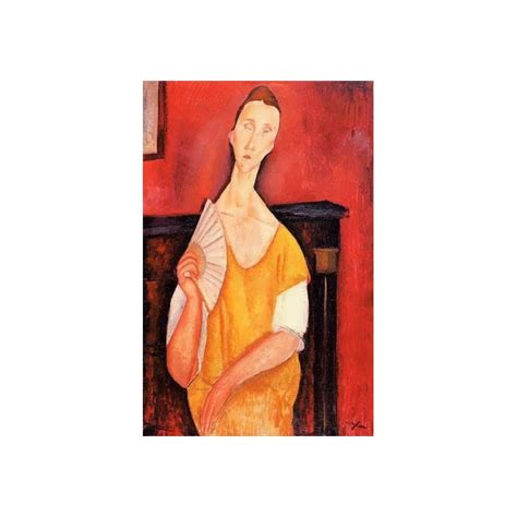 modigliani with a fan quot madame lunia czechowska with a fan quot by amedeo modigliani