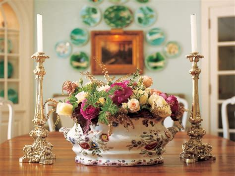 dining room table floral centerpieces decorating the dining table ruby lane blog