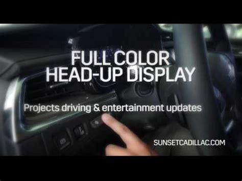 Cadillac Heads Up Display by Cadillac Xt5 Crossover Up Display Sunset Cadillac