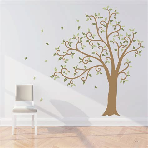 tree wall decals wavy tree wall decal