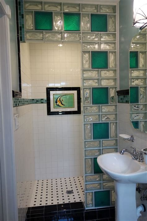 glass block showers small bathrooms glass block shower contemporary bathroom cleveland