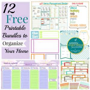 free printables for home 12 free printable bundles to organize your home