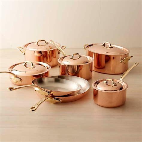 copper cookware set mauviel copper 12 cookware set williams sonoma