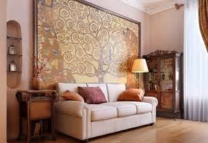 Luxury interior design ideas for living room with big oil painting