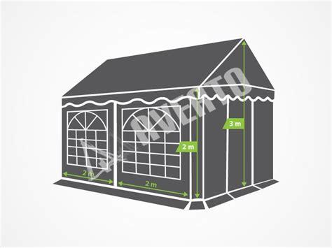 pvc pavillon 4 x 4 m partyzelt pvc bestpreisgarantie