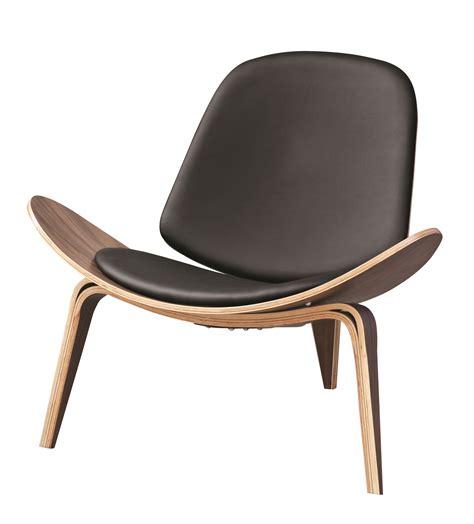 Hans Wegner Shell Chair by Hans Wegner Shell Style Lounge Chair Black Ebay