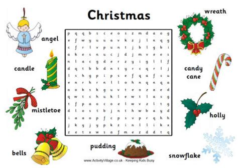 activity village christmas activity word search merry and happy new year 2018