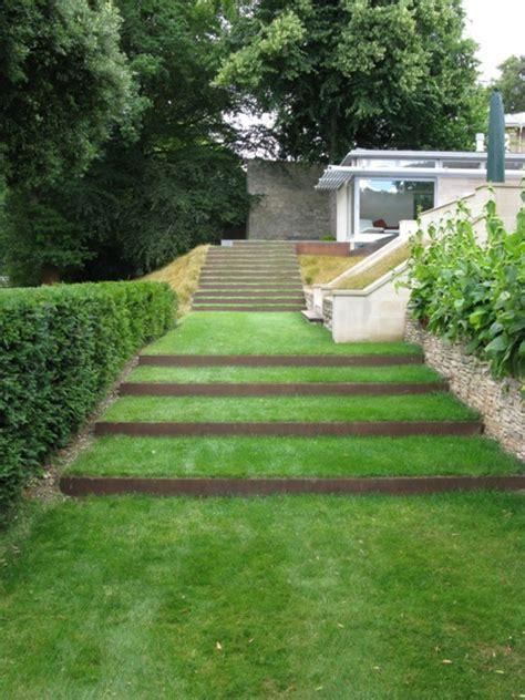 contemporary terraced staircase ironart  bath
