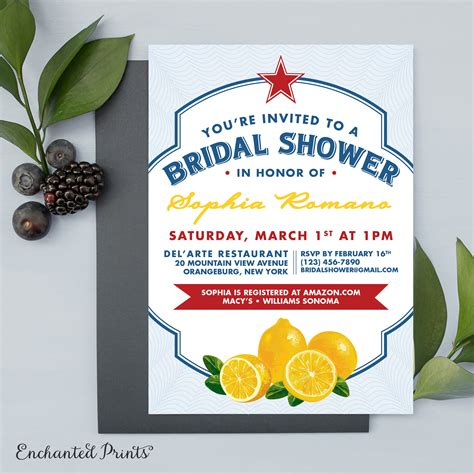 italian themed bridal shower invitations italian themed wedding bridal or baby shower invitation