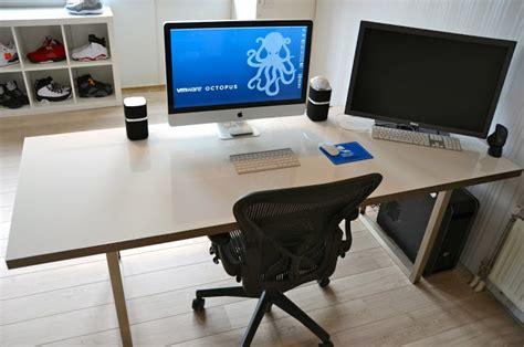 Ikea Computer Desk With Whiteboard Whiteboard Desk Ikea Hackers