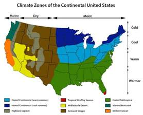 the weather map of the united states climate zones