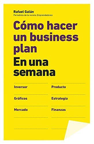 business plan libreria descargar libro c 243 mo hacer un business plan en una semana
