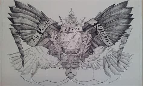 winged chest tattoo big by rawkwilder on deviantart