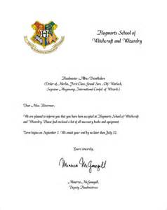 sample hogwarts acceptance letter 8 download documents