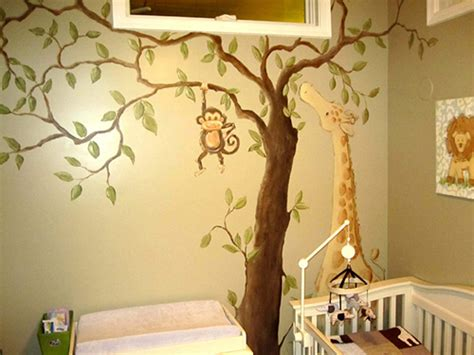 Animal Wall Murals jungle animal murals for children and nursery rooms