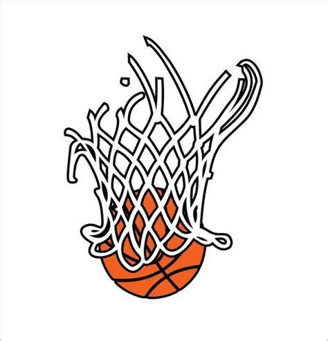 basketball net clipart basketball in net 3 color design vector instant digital