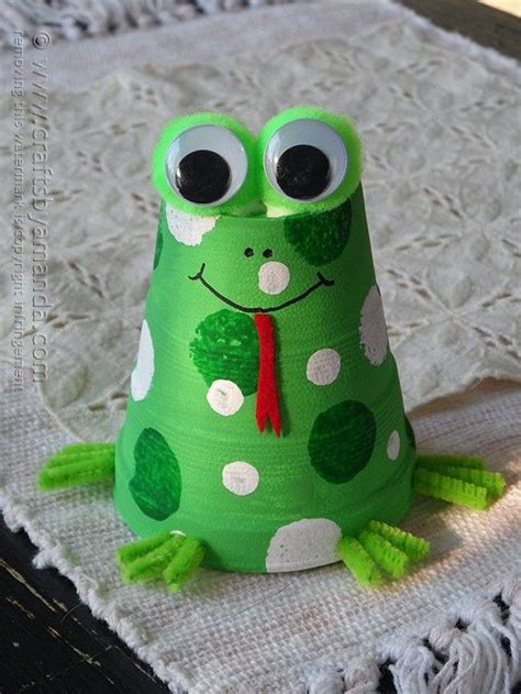 Papercraft Frog - passover foam cup frog craft diy passover frog craft