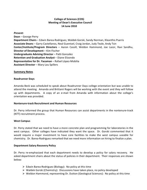 Appeal Letter Template Housing Benefit Deans Executive Council Notes 2010