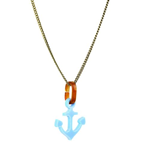 Tatty Devines Ss07 Jewellery Collection Available Now by Tatty Blue Anchor Necklace At Jewellery4