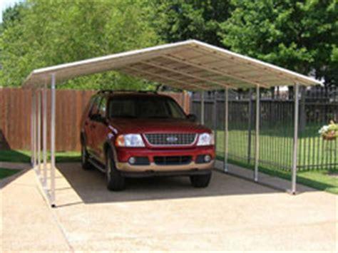 open partially enclosed carports