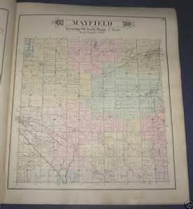 Michigan Plat Maps by Mayfield Township Lapeer County Michigan Plat Map 1893 Ebay