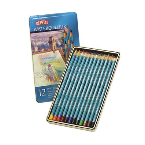 Derwent Watercolour Pencil 24 Set derwent 12pc watercolor pencil set tin 8590312