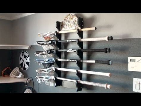 Wall Murals Stick On my lacrosse stick rack youtube