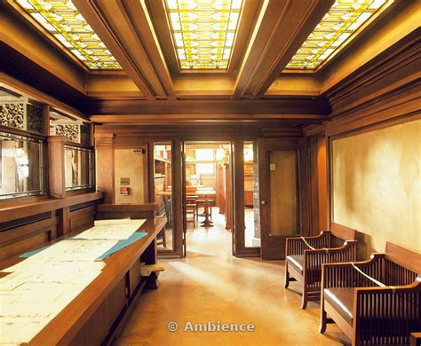 Frank Lloyd Wright Home Interiors Frank Lloyd Wright Home Studio Interior Stain Glass Windows Wood Panels Oak Park
