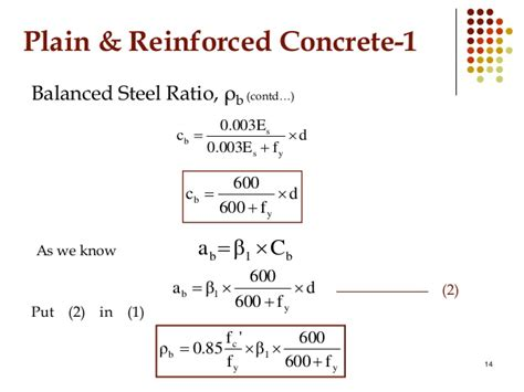 balanced section reinforced concrete flexural design of beam prc i
