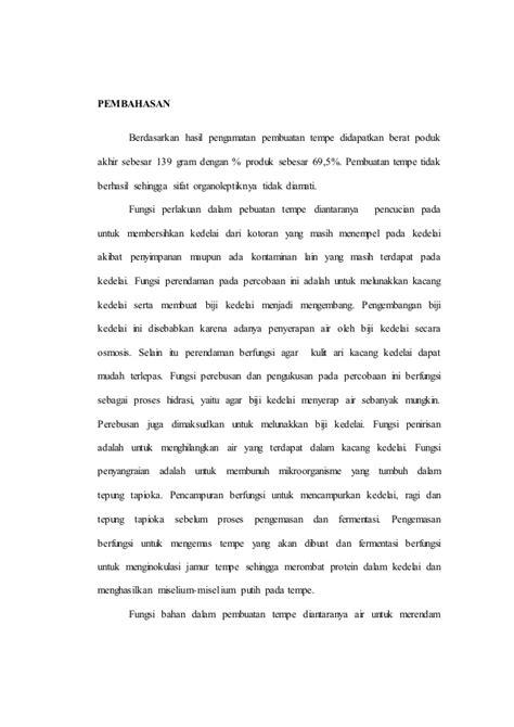 format membuat laporan praktikum laporan praktikum tempe