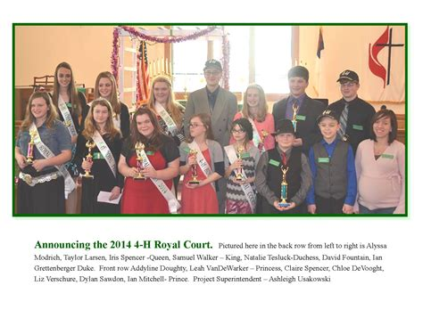 St Clair County Court Records Michigan St Clair County 4 H Royal Court