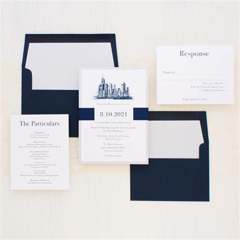 Wedding Invitations Chicago by Chicago Chic Wedding Invitations Beacon